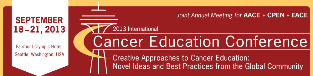 2013 International Cancer Education Conference
